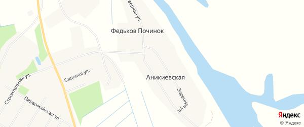 Карта деревни Федькова Починка в Архангельской области с улицами и номерами домов