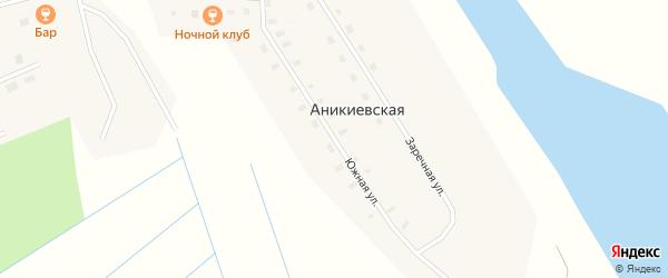 Южная улица на карте Аникиевской деревни с номерами домов