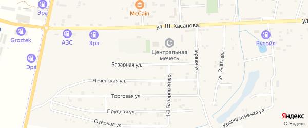 Базарная улица на карте Знаменского села с номерами домов