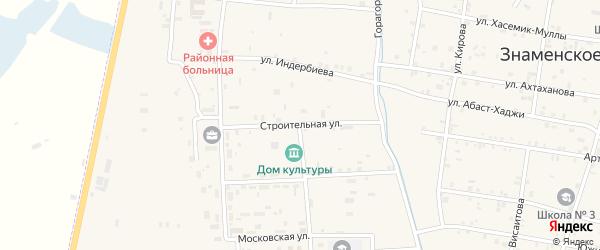 Строительная улица на карте Знаменского села с номерами домов