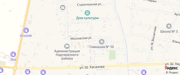 Московская улица на карте Знаменского села с номерами домов