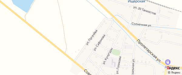 Улица Пугачева на карте Ищерской станицы с номерами домов
