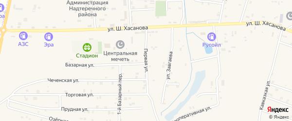Первая улица на карте Знаменского села с номерами домов