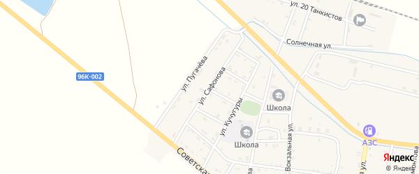 Улица Сафонова на карте Ищерской станицы с номерами домов