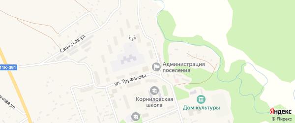 Улица Труфанова на карте Двинского поселка с номерами домов