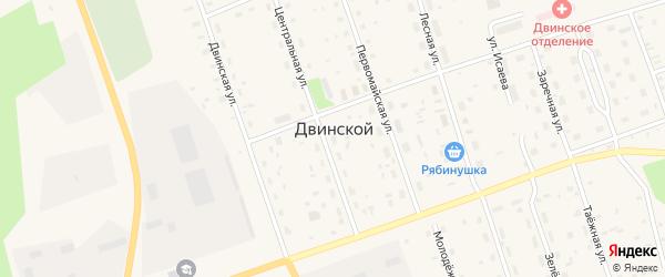 Улица 11 Линия на карте Двинского поселка с номерами домов