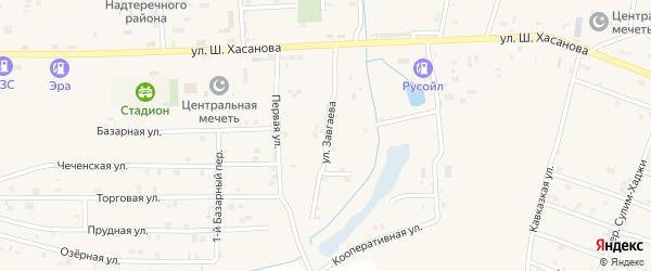 Улица Им Ахмеда Завгаева на карте Знаменского села с номерами домов