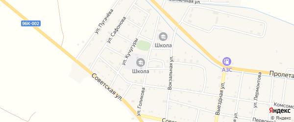 Улица Лени Голикова на карте Ищерской станицы с номерами домов