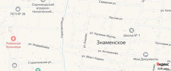Улица Кирова на карте Гвардейского села с номерами домов