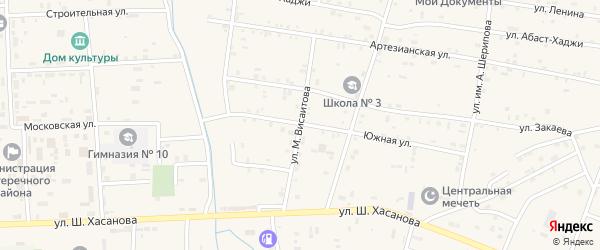 Улица Им М.Висаитова на карте села Бено-Юрт с номерами домов