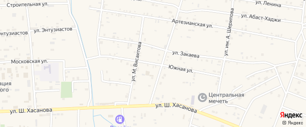 Южная улица на карте Знаменского села с номерами домов