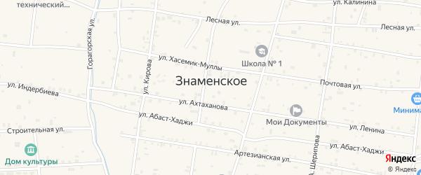 Узенькая улица на карте Знаменского села с номерами домов