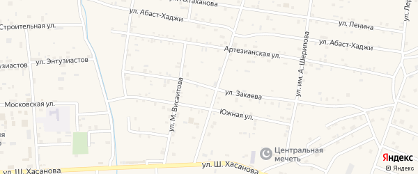 Улица Им С.Закаева на карте Знаменского села с номерами домов