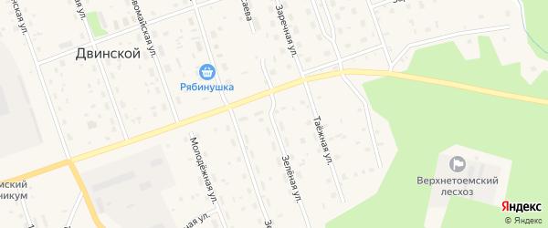 Улица Исаева на карте Двинского поселка с номерами домов