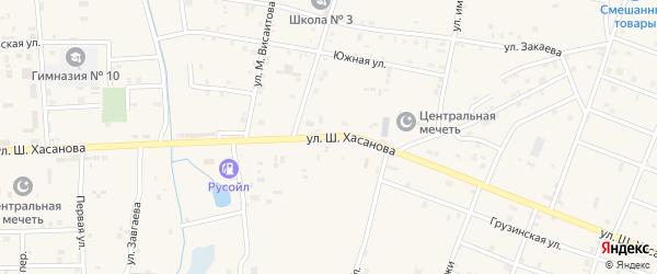 Улица Ш.Хасанова на карте Знаменского села с номерами домов