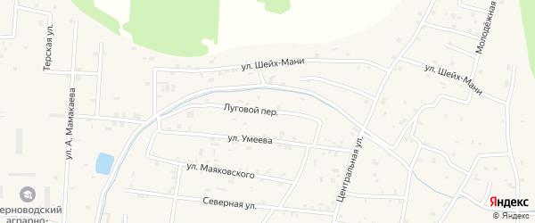 Луговой переулок на карте Знаменского села с номерами домов