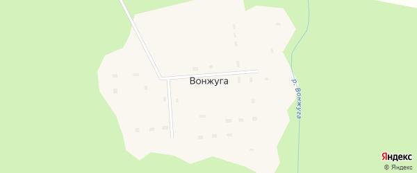 Клубная улица на карте поселка Вонжуги с номерами домов