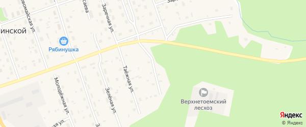 Таежная улица на карте Двинского поселка с номерами домов