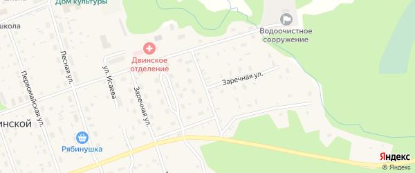 Заречная улица на карте Двинского поселка с номерами домов