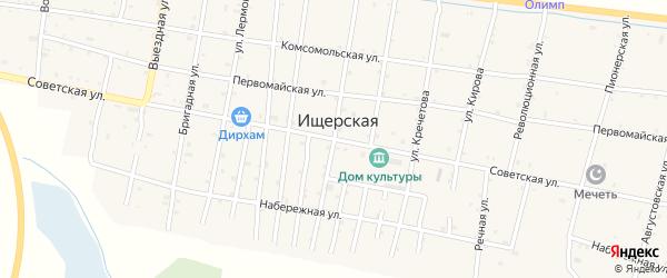 Советская улица на карте Ищерской станицы с номерами домов