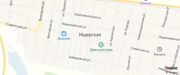 Московская улица на карте Ищерской станицы с номерами домов