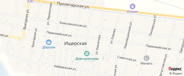Первомайская улица на карте Ищерской станицы с номерами домов
