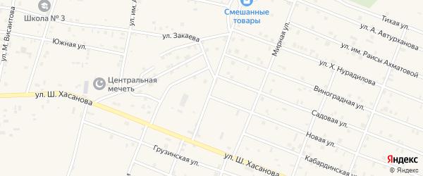 Улица Лермонтова на карте Знаменского села с номерами домов
