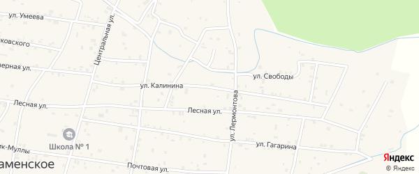 Улица Калинина на карте Гвардейского села с номерами домов