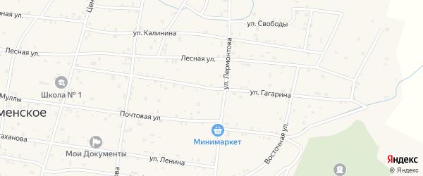 Улица Гагарина на карте Знаменского села с номерами домов