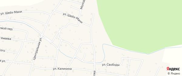 Молодежная улица на карте Знаменского села с номерами домов
