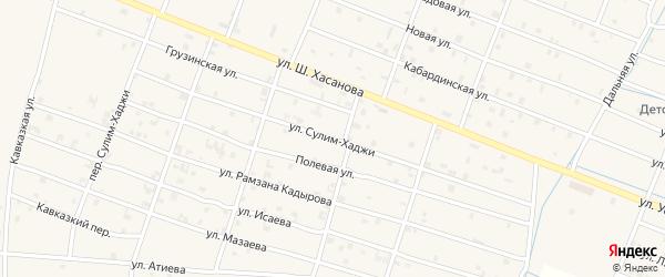 Переулок Сулим-Хаджи на карте Знаменского села с номерами домов