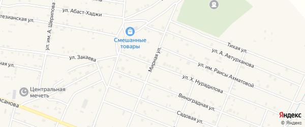 Мирная улица на карте Знаменского села с номерами домов