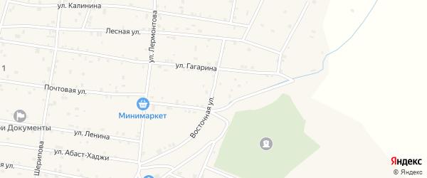 Восточная улица на карте Знаменского села с номерами домов