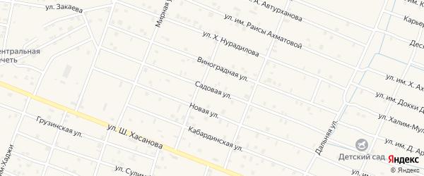 Садовая улица на карте Знаменского села с номерами домов