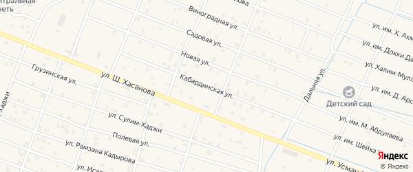 Кабардинская улица на карте Знаменского села с номерами домов