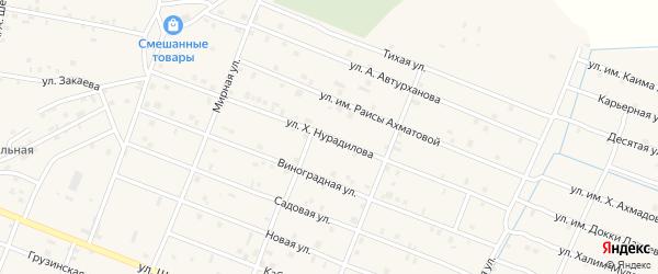 Улица Им Х.Нурадилова на карте Знаменского села с номерами домов