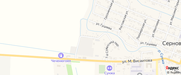 2-й Советский переулок на карте Серноводского села с номерами домов