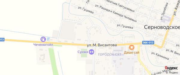1-й Советский переулок на карте Серноводского села с номерами домов