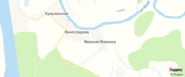 Карта деревни Виноградова в Архангельской области с улицами и номерами домов