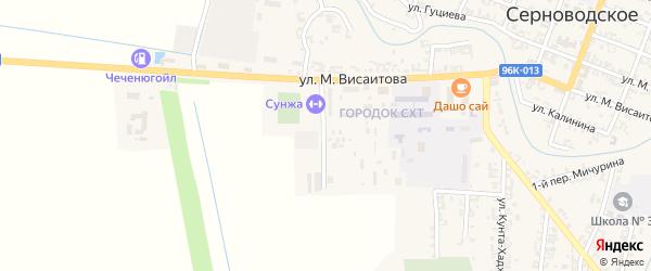 Улица городок СХТ на карте Серноводского села с номерами домов