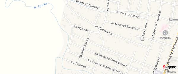 Грозненская улица на карте Серноводского села с номерами домов