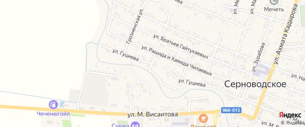 Улица Гуциева на карте Серноводского села с номерами домов
