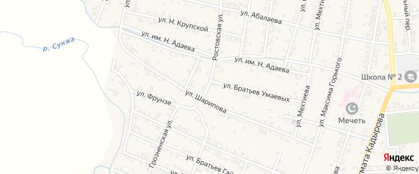 Ростовская улица на карте Серноводского села с номерами домов