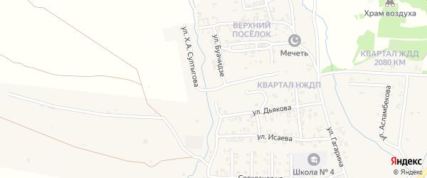 Улица Х.Султыгова на карте Серноводского села с номерами домов
