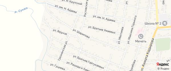 Улица Шарипова на карте Серноводского села с номерами домов