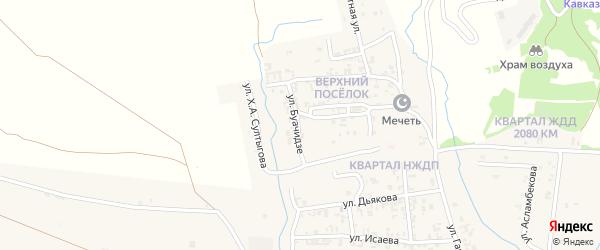 Улица Буачидзе на карте Серноводского села с номерами домов