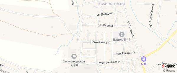 4-й Совхозный переулок на карте Серноводского села с номерами домов