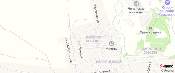 Высоковольтная улица на карте Серноводского села с номерами домов