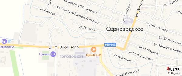 Улица Израилова на карте Серноводского села с номерами домов