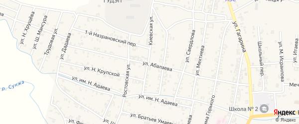 Киевская улица на карте Серноводского села с номерами домов